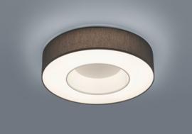 Plafondlamp Lomo led,  antraciet stoffen kap 45 cm