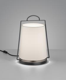 Tafellamp Uka, zwart met kap wit