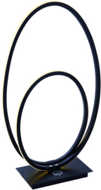 Tafellamp Ophelia led, zwart 41 cm