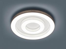 Plafondlamp Lomo S led,  antraciet - witte stoffen kap 68 cm
