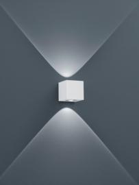 Buitenlamp Peka led, mat wit IP54