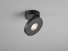 Plafondspot Goto led, 1-lichts mat zwart