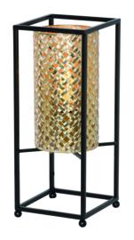 Tafellamp Petrolio, zwart-goud 37 cm