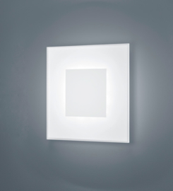 Wandlamp Vadas led, mat wit met acryl glas