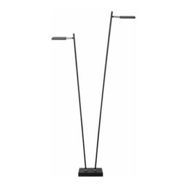 Vloerlamp Block led, 2-delig zwart