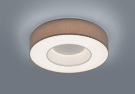 Plafondlamp Lomo led,  mokka stoffen kap 45 cm