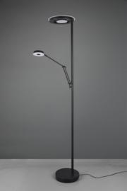 Vloerlamp Barrie led, 2-lichts zwart