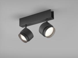 Plafondspot Pont led, 2-lichts mat zwart