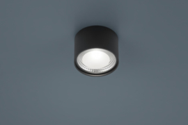 Plafondlamp Kari led, rond zwart