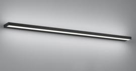 Wandlamp Slate led,  mat zwart met acryl glas 120 cm