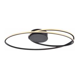 Plafondlamp Ophella led, zwart 60 cm ovaal