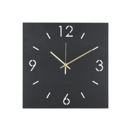 Time vierkant, 40 cm zwart