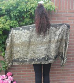 Sjaal goud/zwart