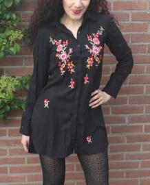 Lange blouse met bloemen
