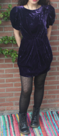 Velvet jurkje paars