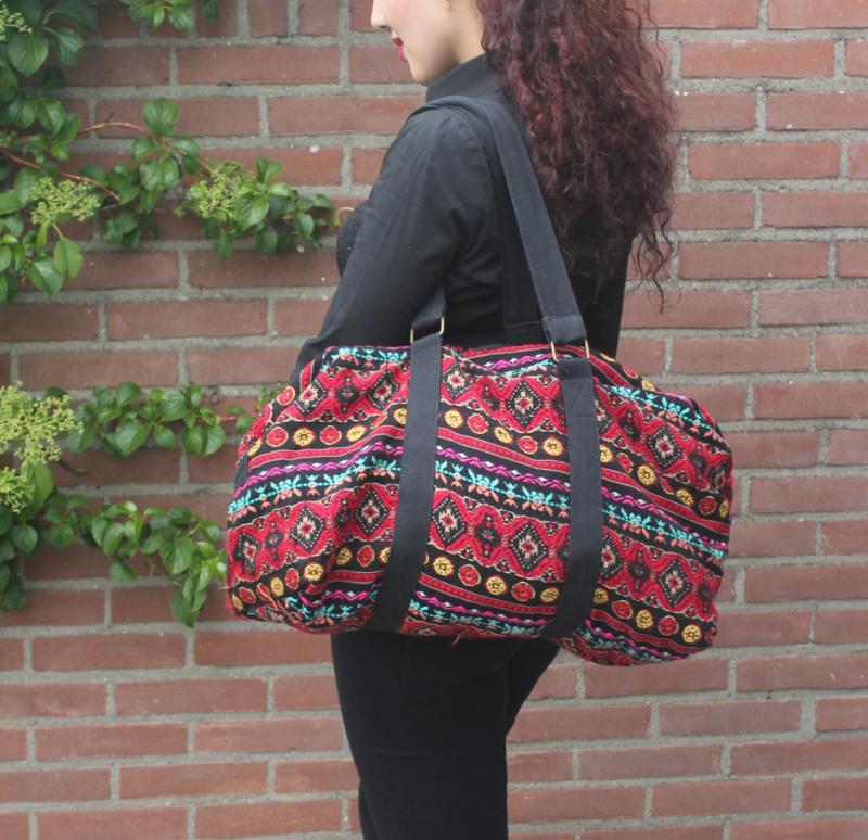 Schoudertas, Azteken, gekleurd