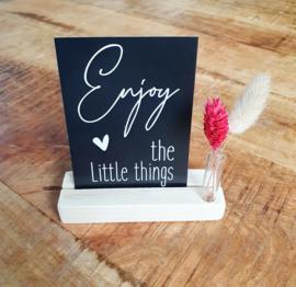 Kaartenhouder - Plankje - Enjoy the little things