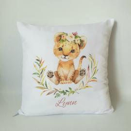Kussen - Leeuwtje meisje
