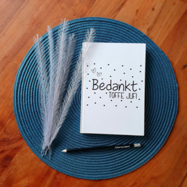 Notitieboekje - Toffe juf met potlood