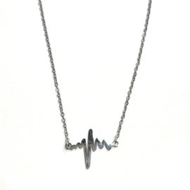 Lovaly ketting met Heartbeat | Zilver