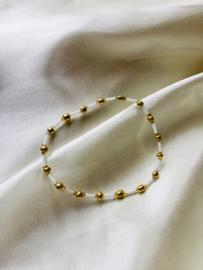 Lovaly kralenarmband wit/goud