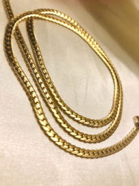 FLAT SNAKE NECKLACE - GOLD
