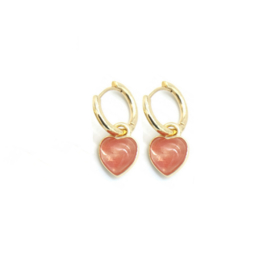 Lovaly pink heart | Goud