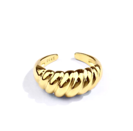 Lovaly Croissant Ring | Goud