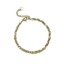 Lovaly Tiny schakelarmband | Goud