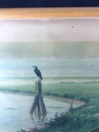 Schoolplaat/wandplaat 1934 M.A. Koekoek; bij de rivier