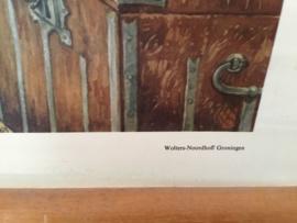 School/wandplaat, Rembrandt in zijn schilders kamer/education poster original