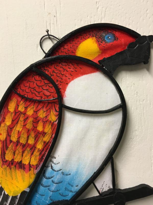 Papegaaien muurdecoratie