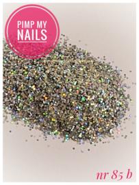 Pimp My Nails 85B zilver multi color