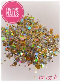 Pimp My Nails 157B zilver/goud hexagon-mix