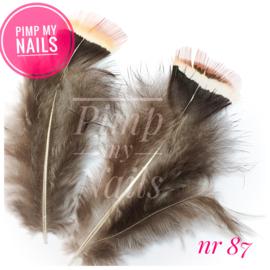 Pimp My Nails 087 veertje bruin/zwart/grijs