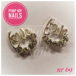 Pimp My Nails 069 LOVE met steentjes