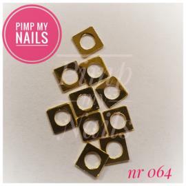 Pimp My Nails 064 vierkant decal met ronde opening