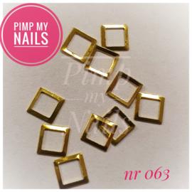 Pimp My Nails 063 vierkant decal met vierkante opening