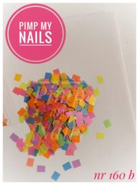 Pimp My Nails 160B color mix mat vierkant