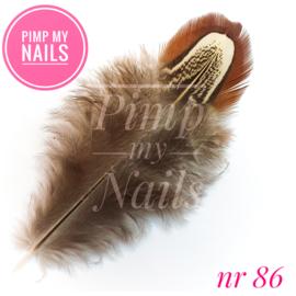Pimp My Nails 086 veertje bruin met beige
