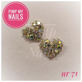 Pimp My Nails 071 hartje met multi color steentjes