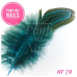 Pimp My Nails 079 veertje grijs/turquoise