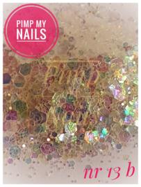 Pimp My Nails 13B wit multi color