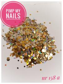 Pimp My Nails 158A zilver/goud hexagon-sterrenmix