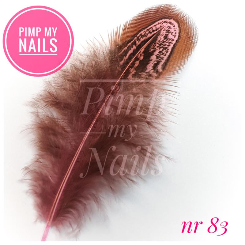 Pimp My Nails 083 veertje bruin met roze