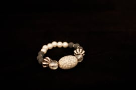 Ibiza armbandje met echt zilveren bedeltje   (Artikel Nr. 1)