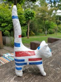 Handgemaakt poezen beeldje - Straatkat