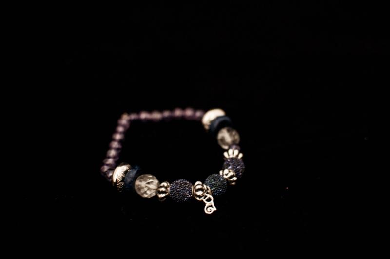 Ibiza armbandje met echt zilveren bedeltje