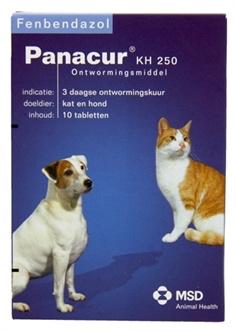 Panacur Hond / Kat 250 mg 10 tabletten