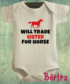 Will trade sister for horse